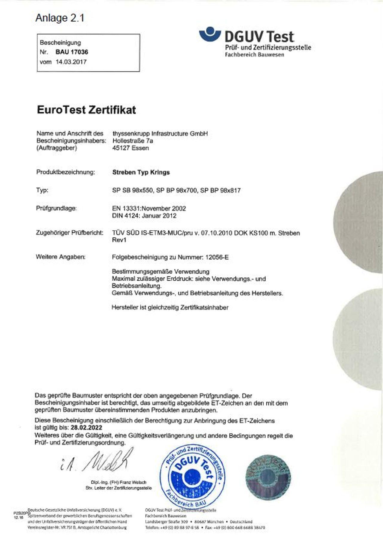 PDF Donwload Pruefbescheinigung krings Streben