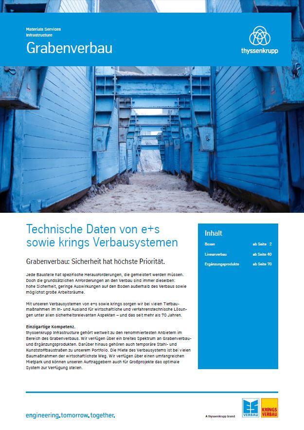 Technische Daten Grabenverbau