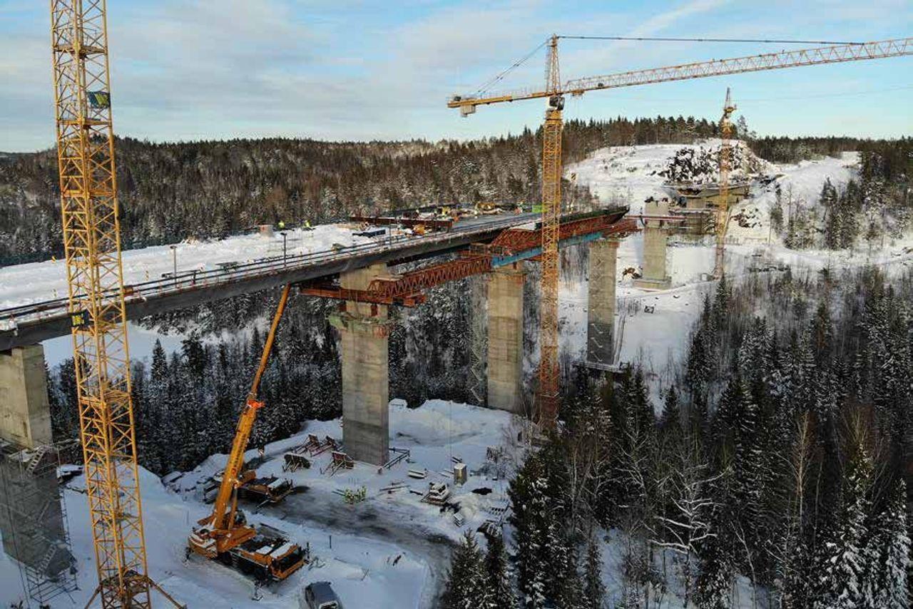 Brückenbau Süd-Norwegen