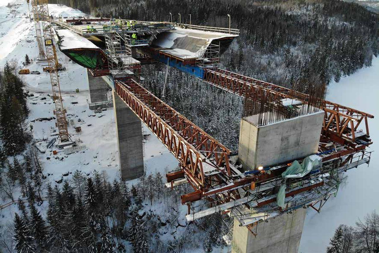 Brückenbau in Süd-Norwegen