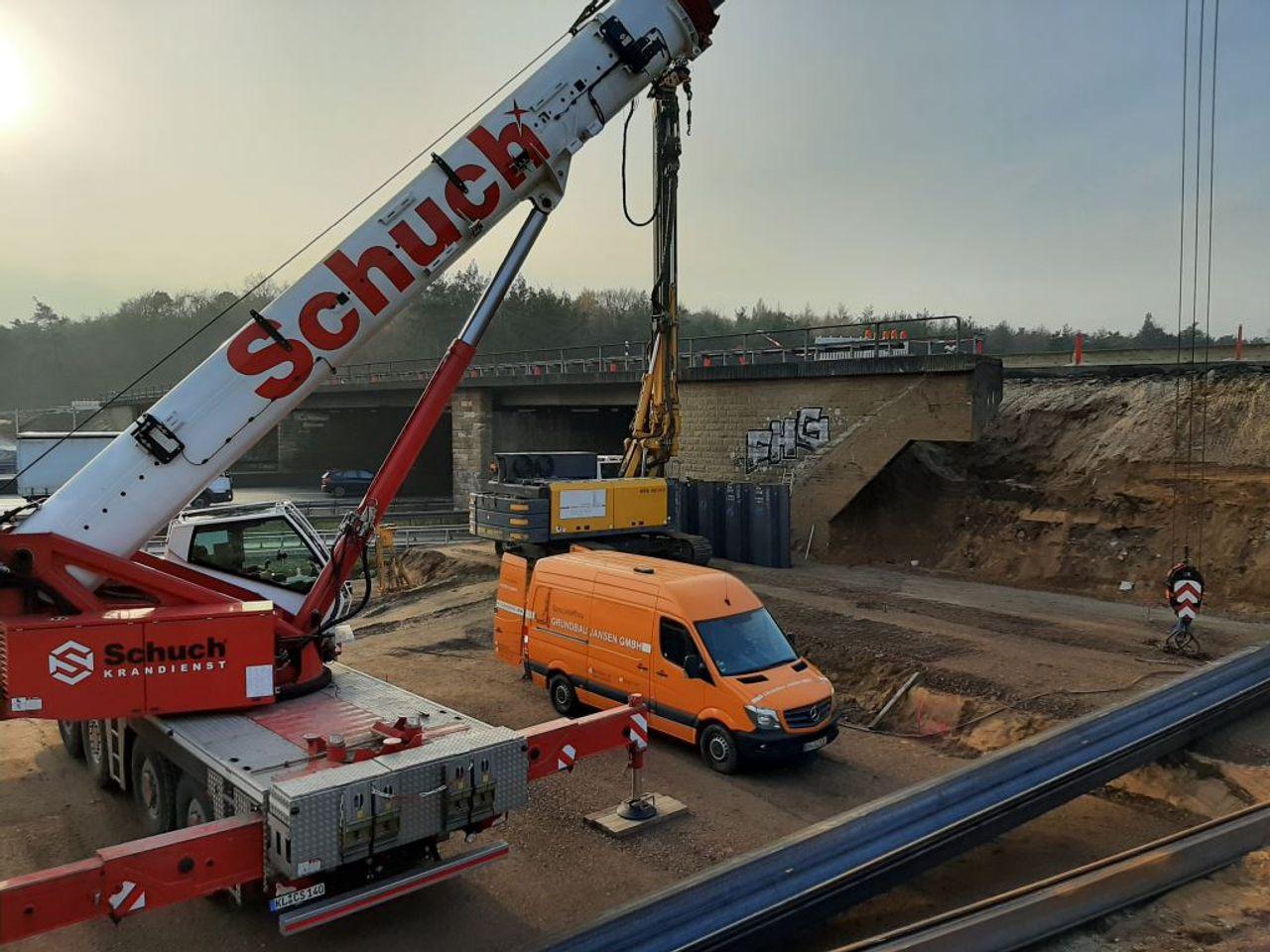 Bridge foundation Offenbach