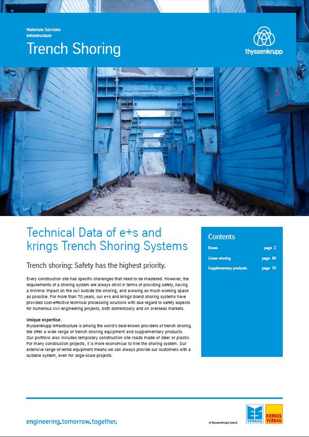 Technical handbook trench shoring