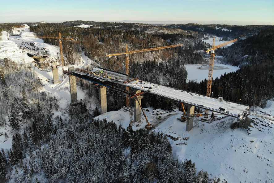 Construction du nouveau pont de la Scherkondetal, près de Weimar