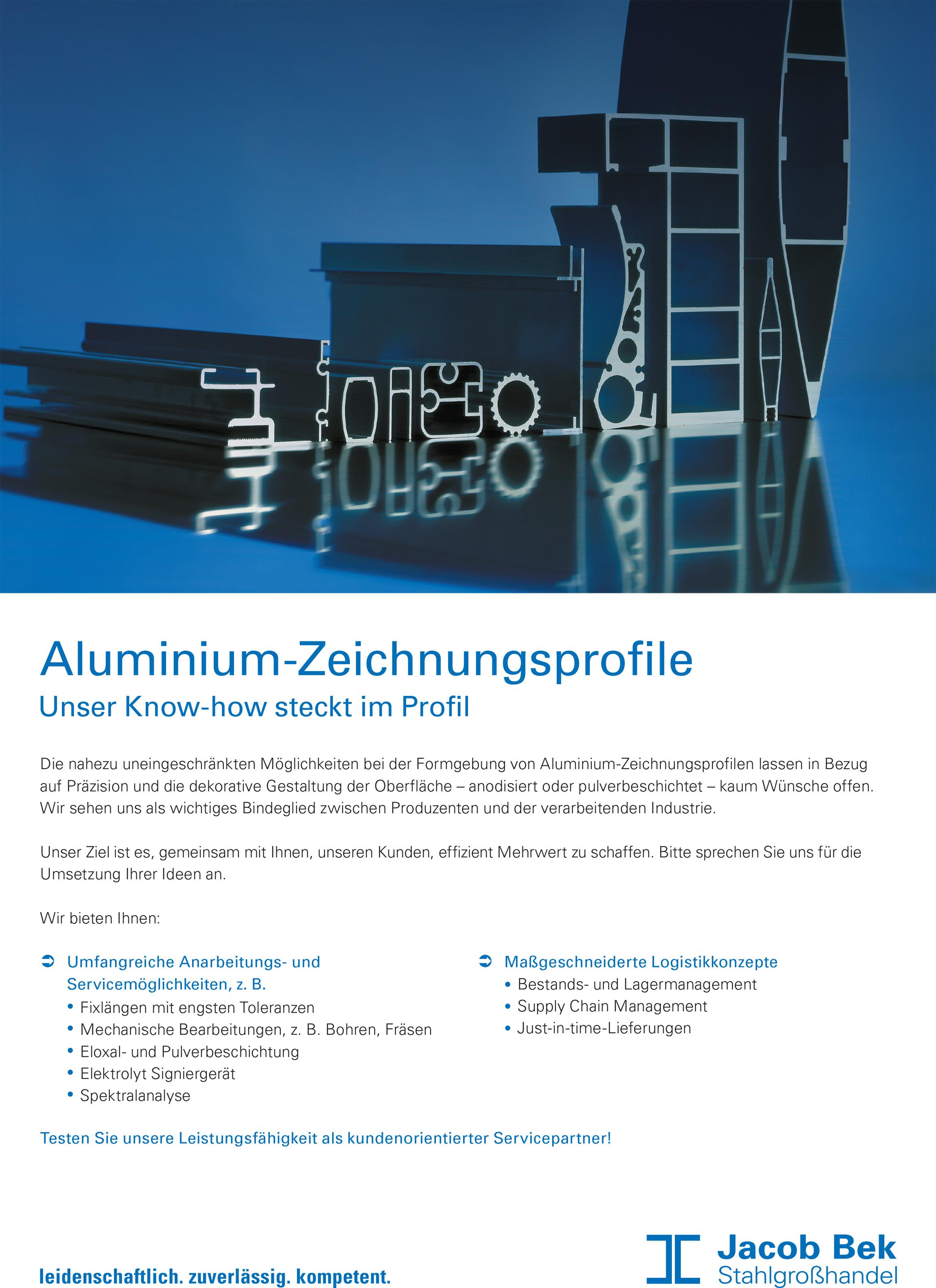 Flyer Aluminium-Zeichnungsprofile