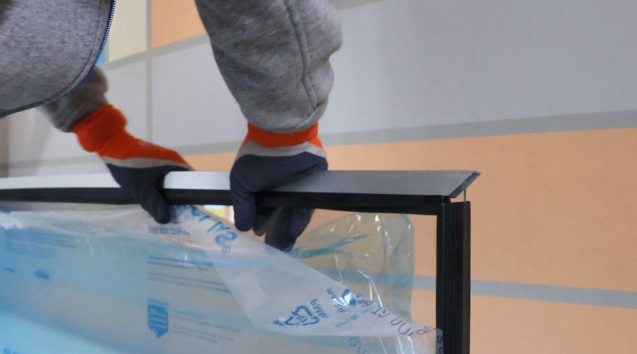Montagevideo alwo®Trennwandsystem mit Massivplatten