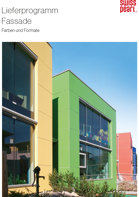 Swisspearl® Lieferprogramm Farben und Formate