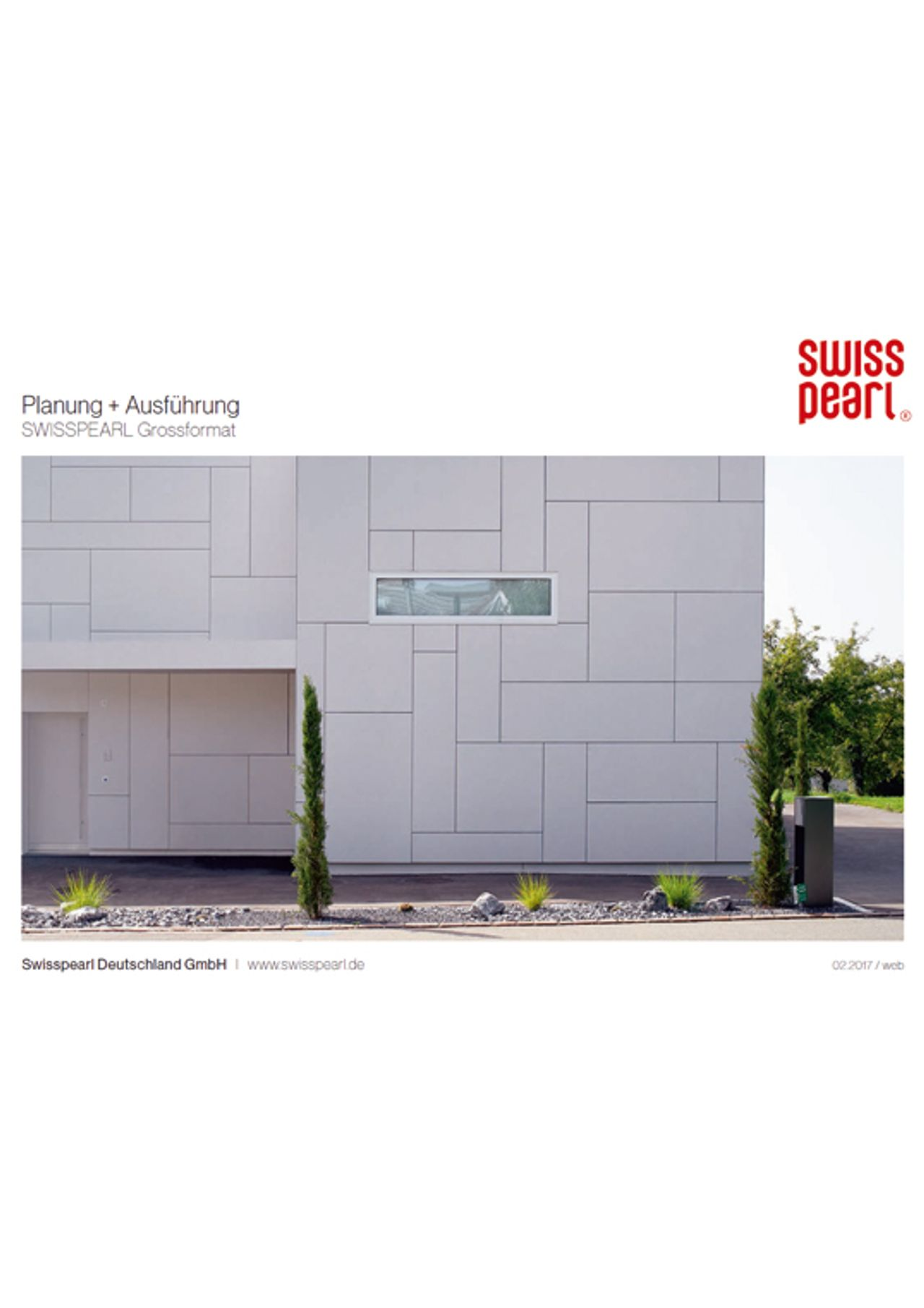 Swisspearl® Fassadentafeln Verarbeitungshinweise