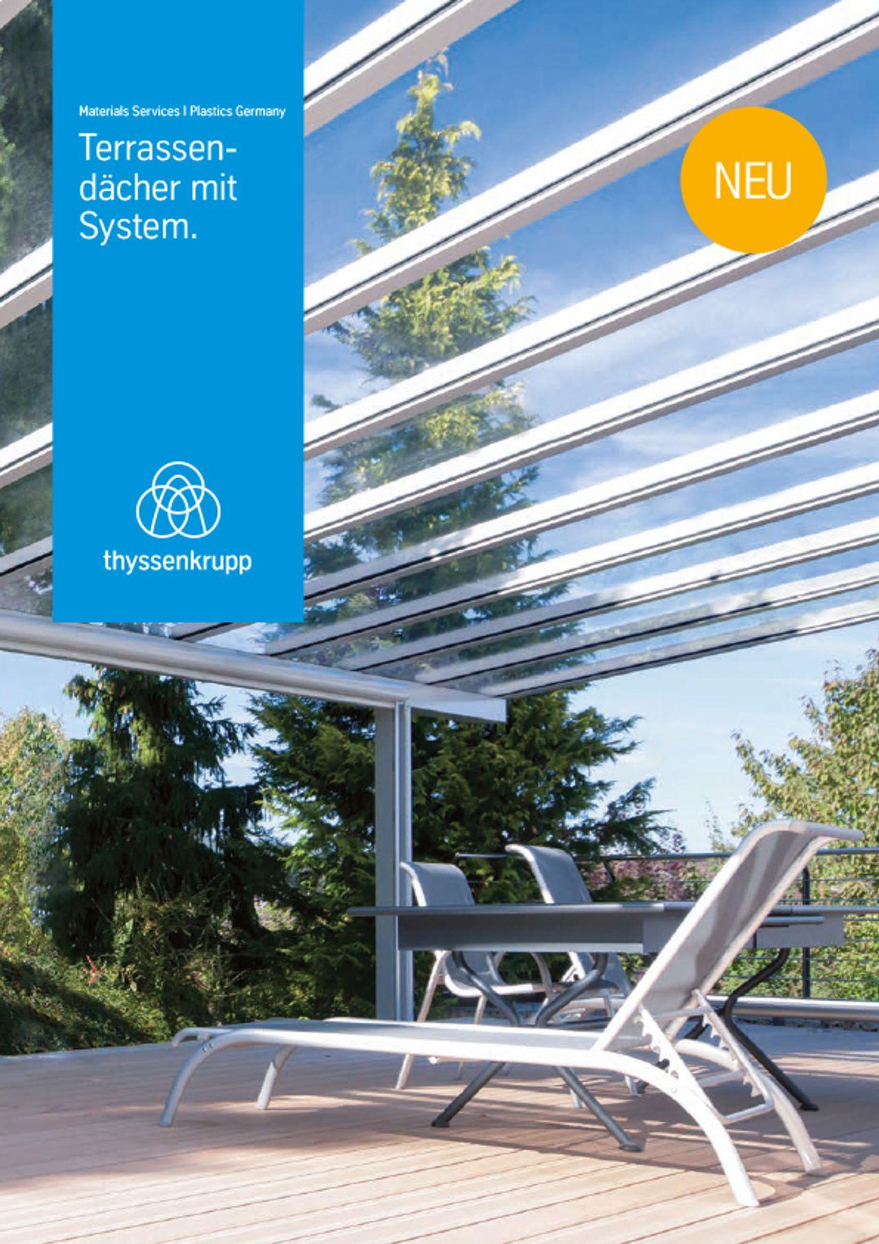 Preview Broschüre Terrassendächer mit System