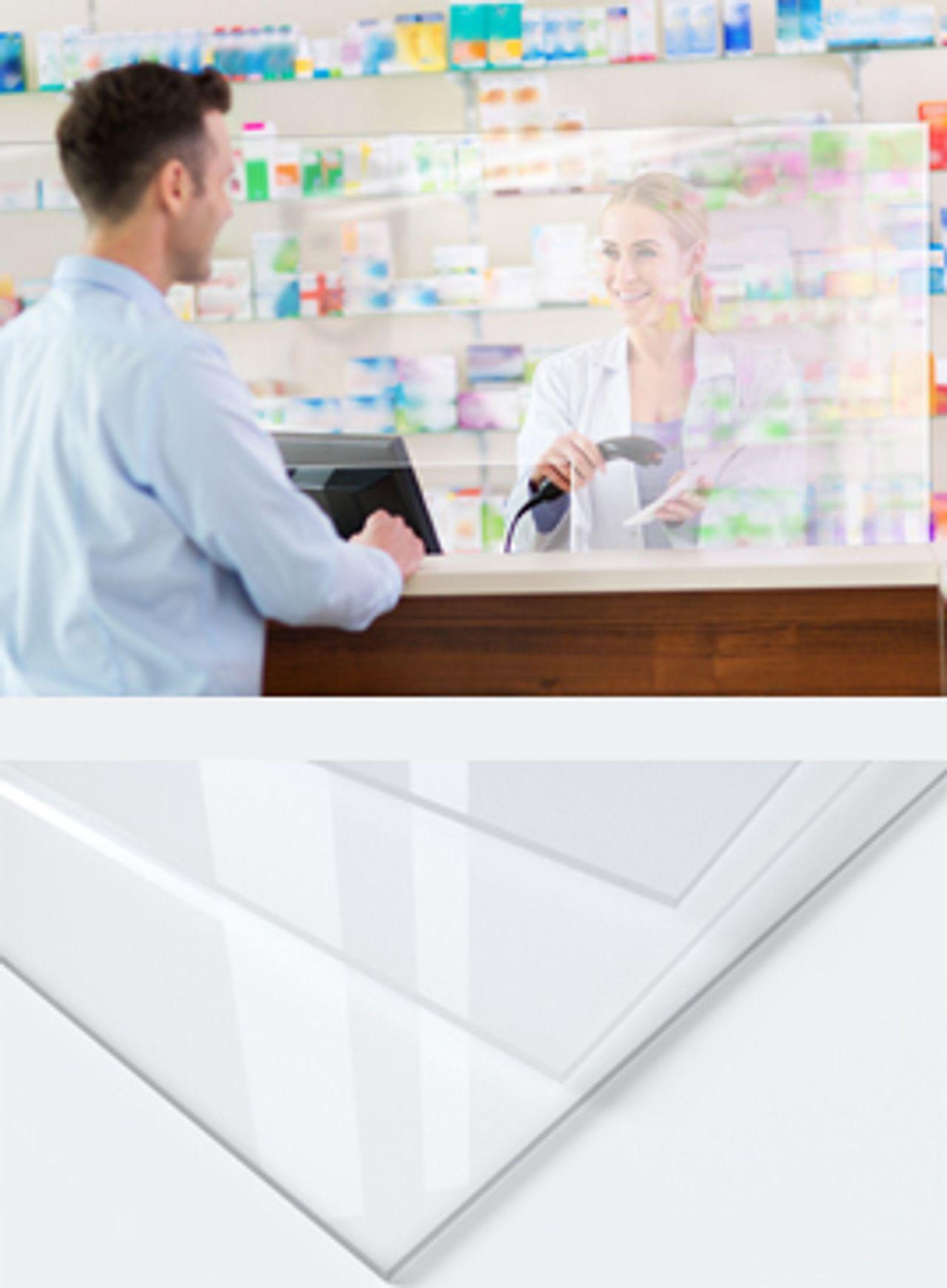 transparente Kunststoffplatten als Schutzmaßnahme