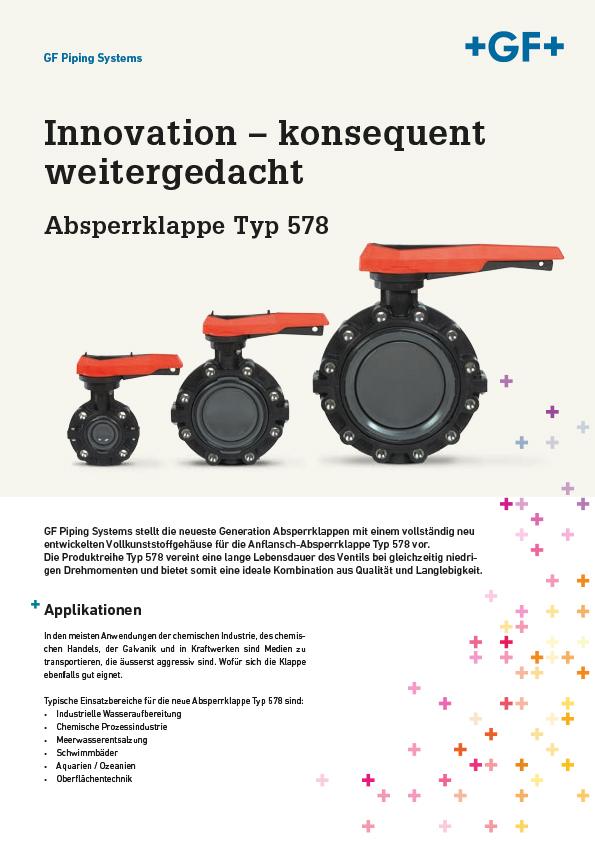 Absperrklappen Typ 578 Georg Fischer Produktinformation