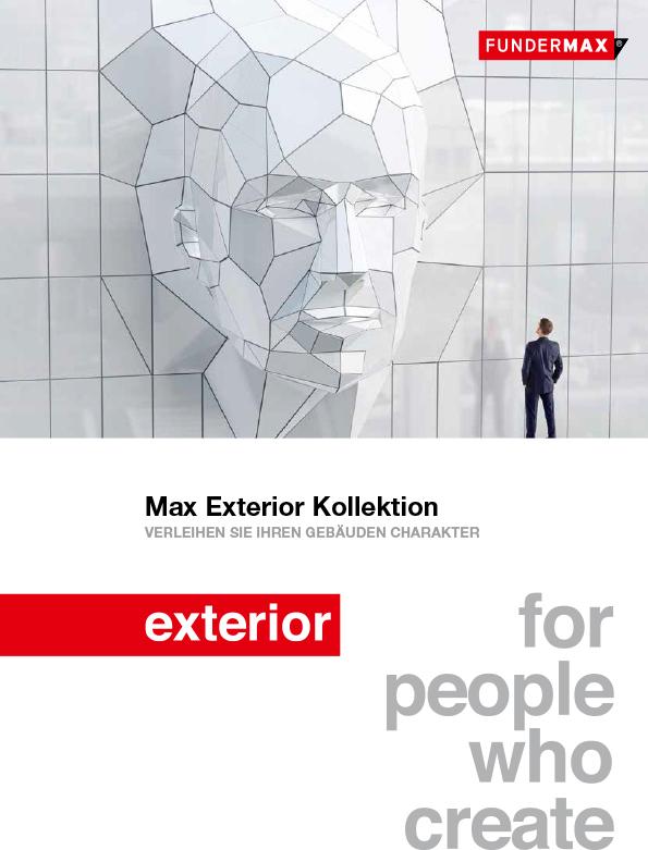 FunderMax - Max Exterior Kollektion 2019 Herstellerbroschüre