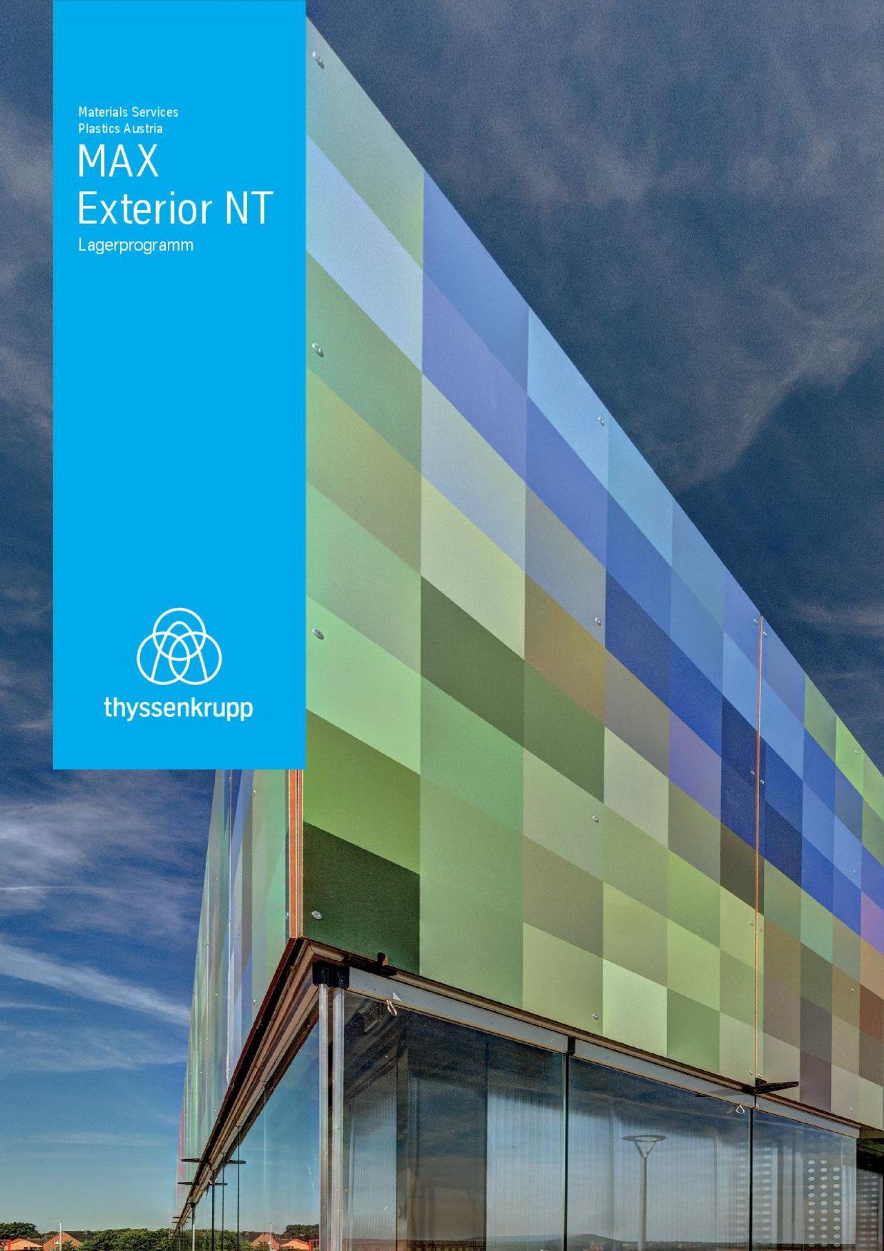 MAX Exterior NT Lagerprogramm
