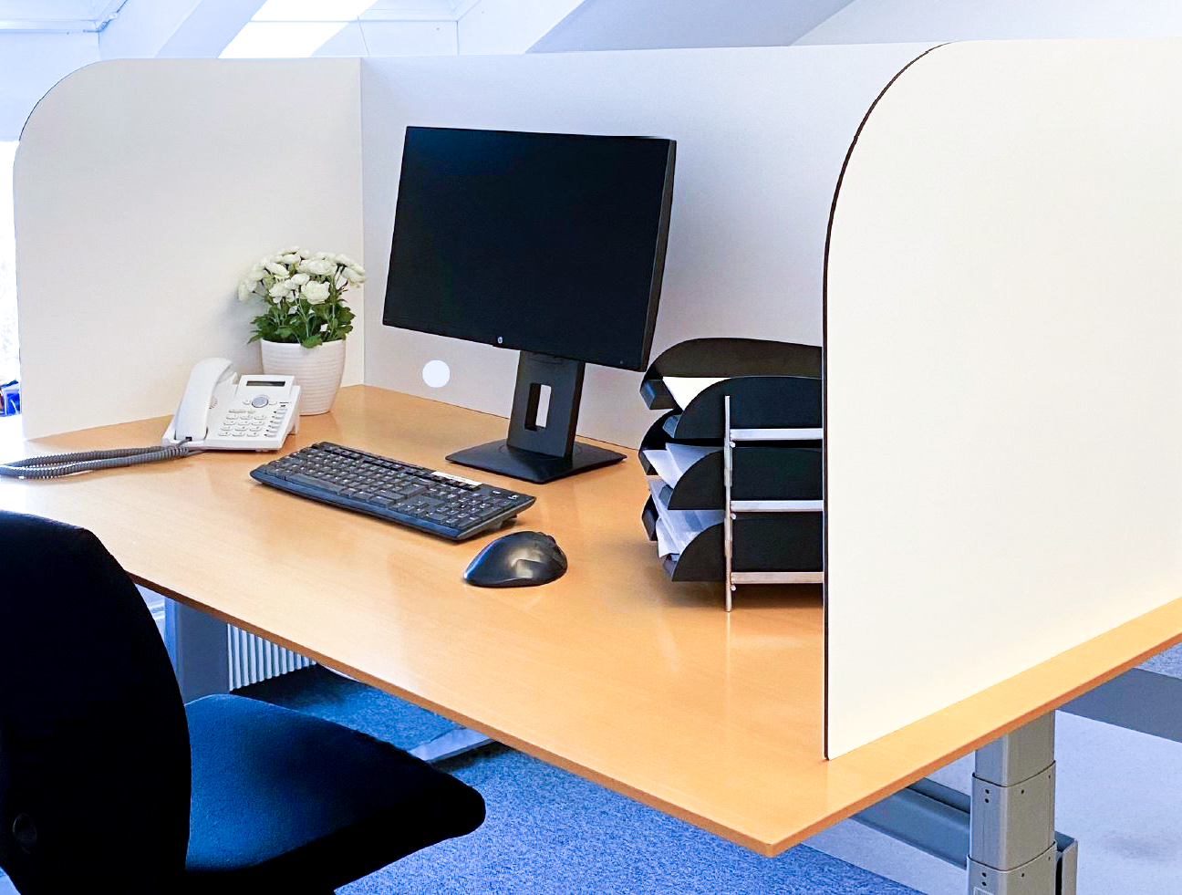 Alu-Verbund Bürotrennwand