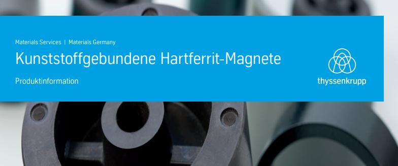 Kunststoffgebundene Hartferrit-Magnete