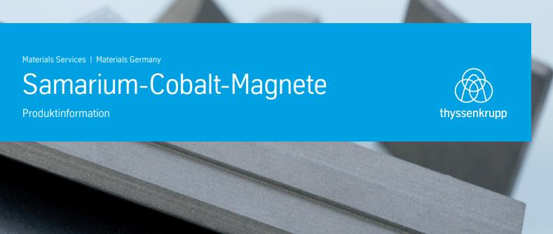 Samarium-Cobalt-Magnete