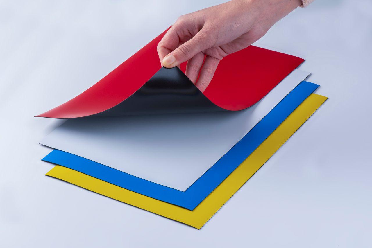 Farbige Magnetfolie, thyssenkrupp Magnettechnik