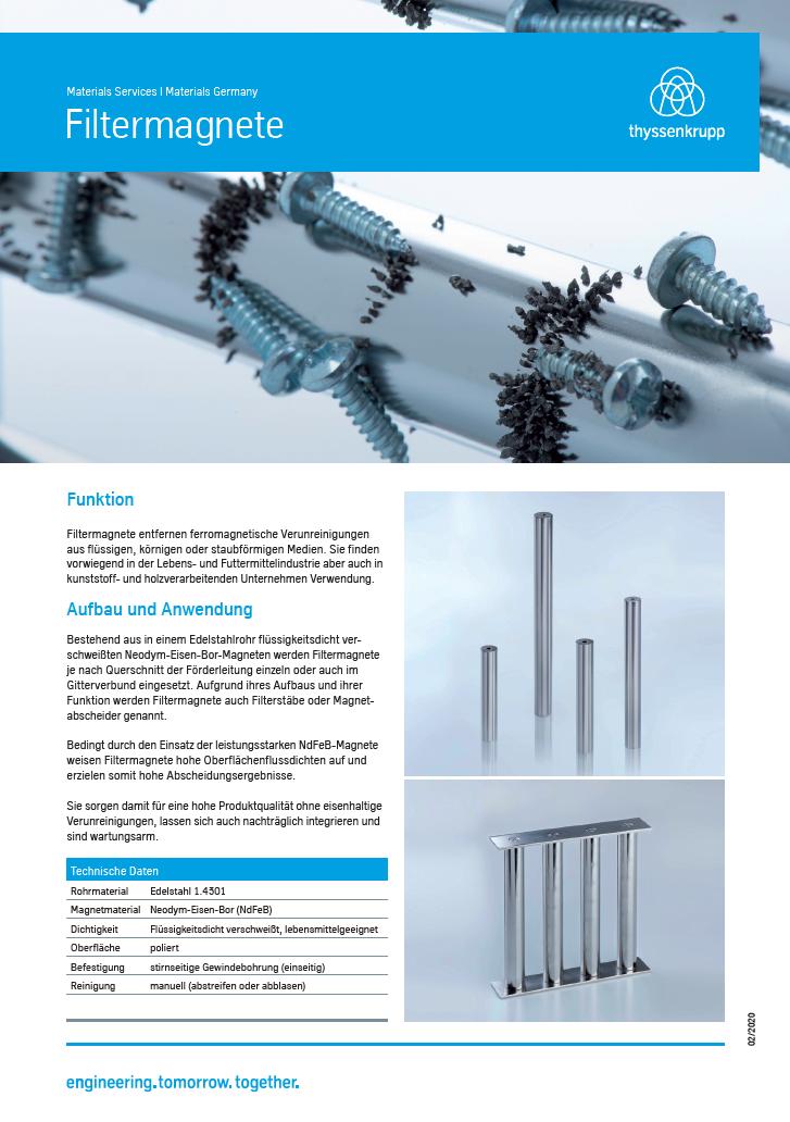 Produktinformation Filtermagnete
