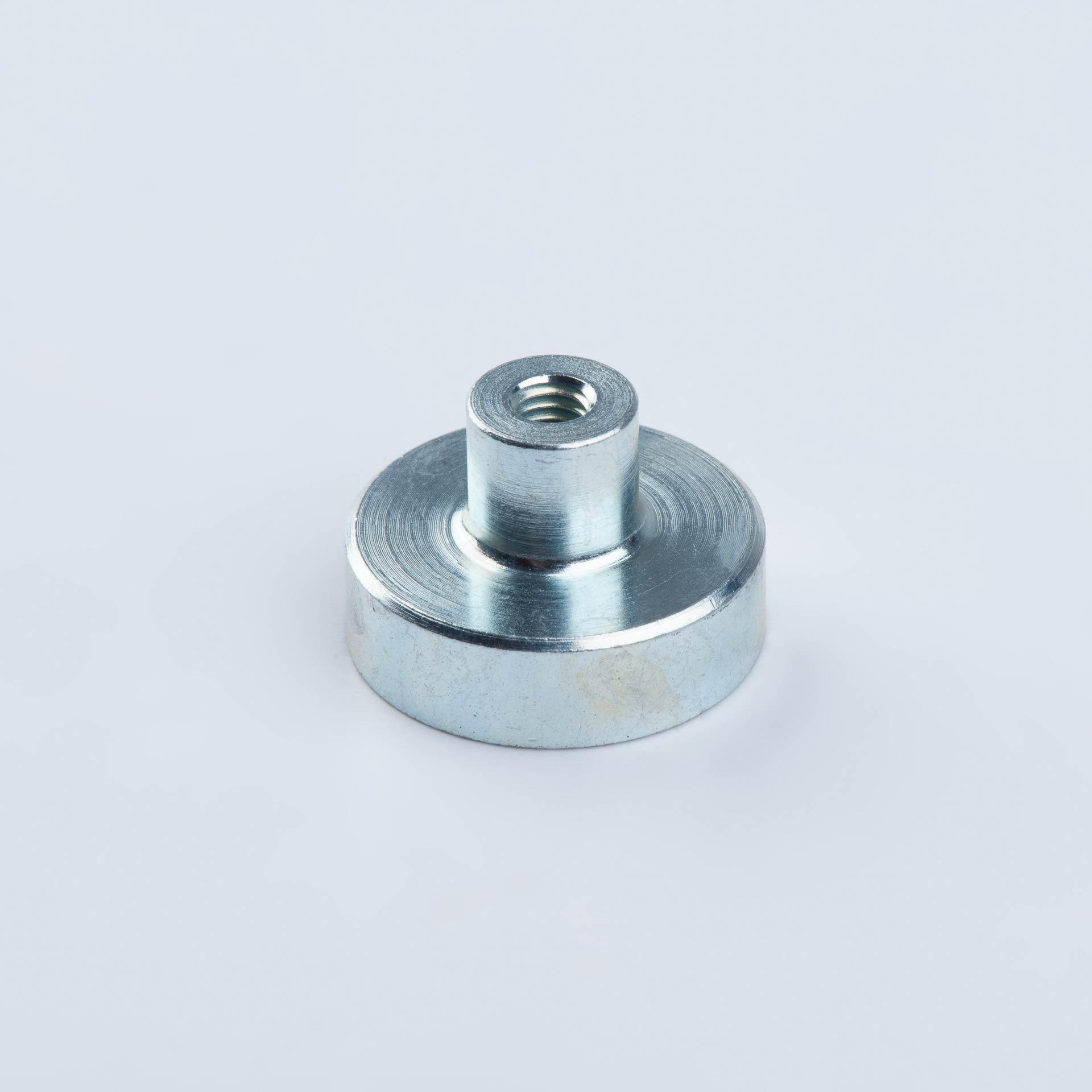 Flachgreifer aus SmCo, mit Gewindebuchse, verzinkt, thyssenkrupp Magnettechnik