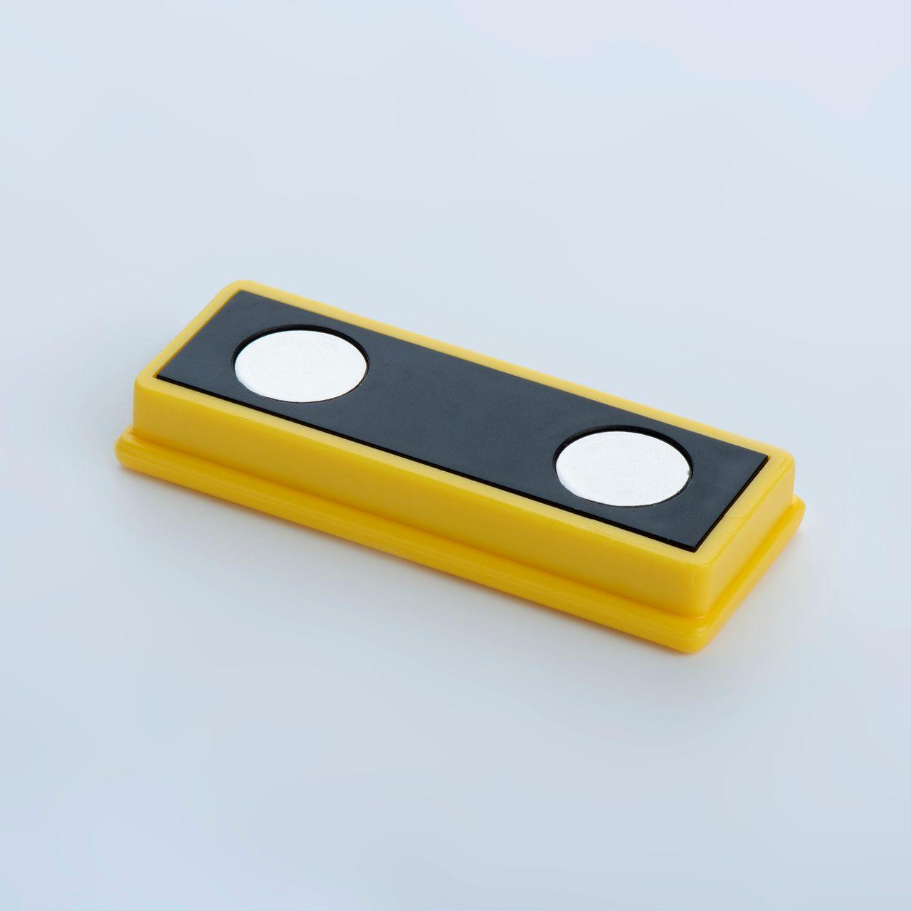 Organisationsmagnet aus Neodym mit rechteckigem Kunststoffgehäuse, verschiedene Farben, thyssenkrupp Magnettechnik