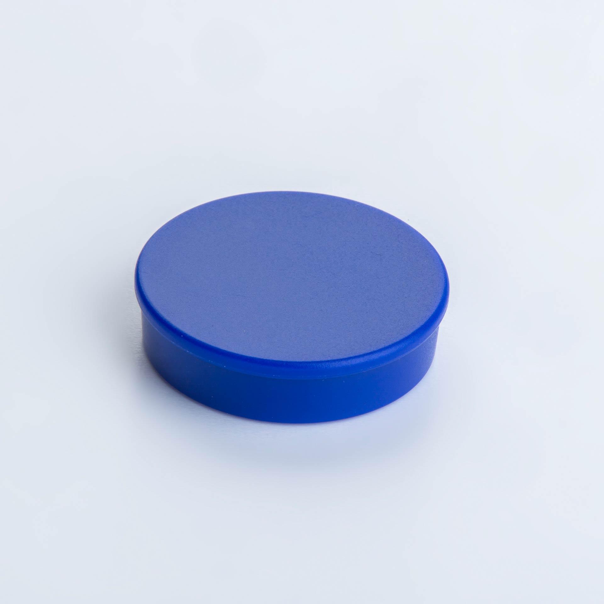Organisationsmagnet aus Hartferrit mit rundem Kunststoffgehäuse, verschiedene Farben, thyssenkrupp Magnettechnik