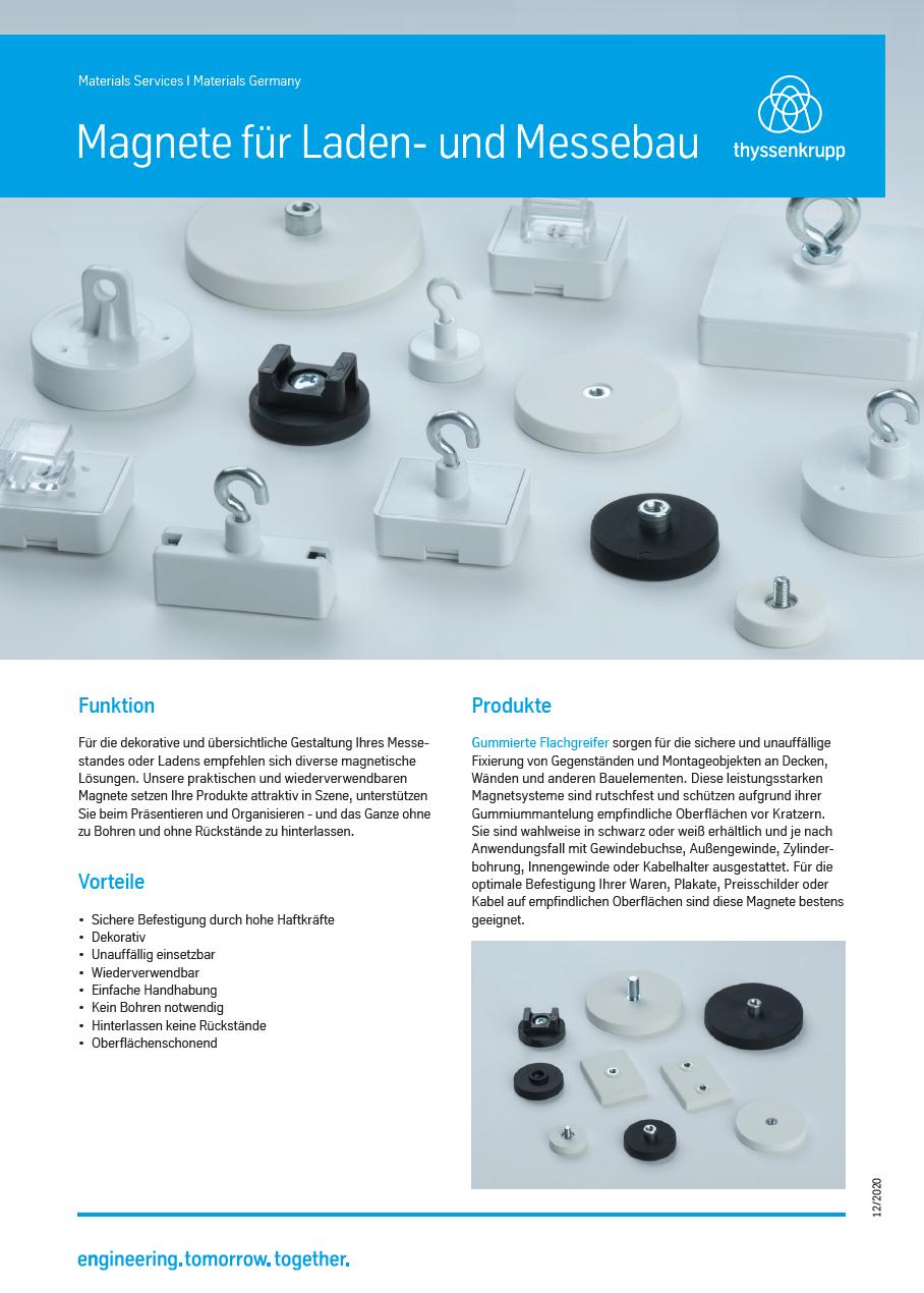 Magnete für Laden- und Messebau, thyssenkrupp Magnettechnik