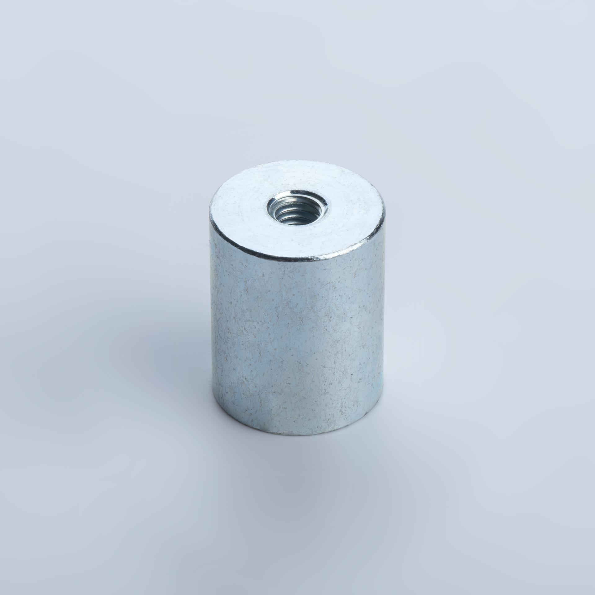 Stabgreifer aus Neodym, Stahlgehäuse mit Innengewinde, verzinkt, thyssenkrupp Magnettechnik