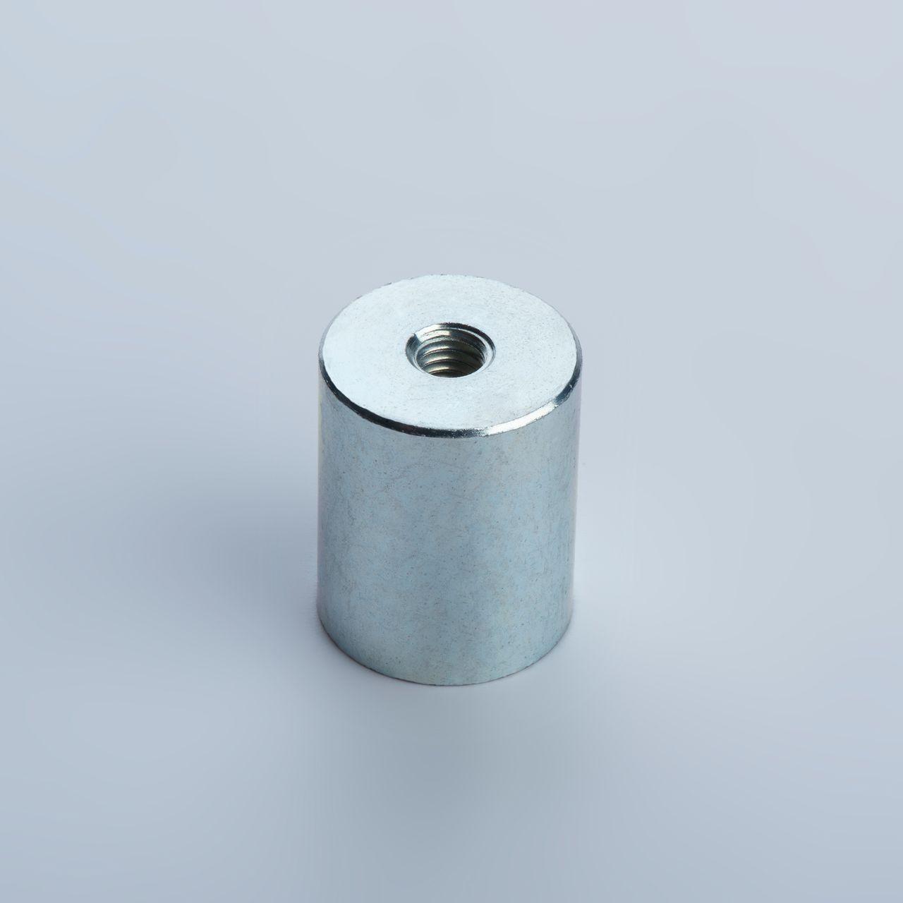 Stabgreifer aus AlNiCo, Stahlgehäuse mit Innengewinde, verzinkt, thyssenkrupp Magnettechnik