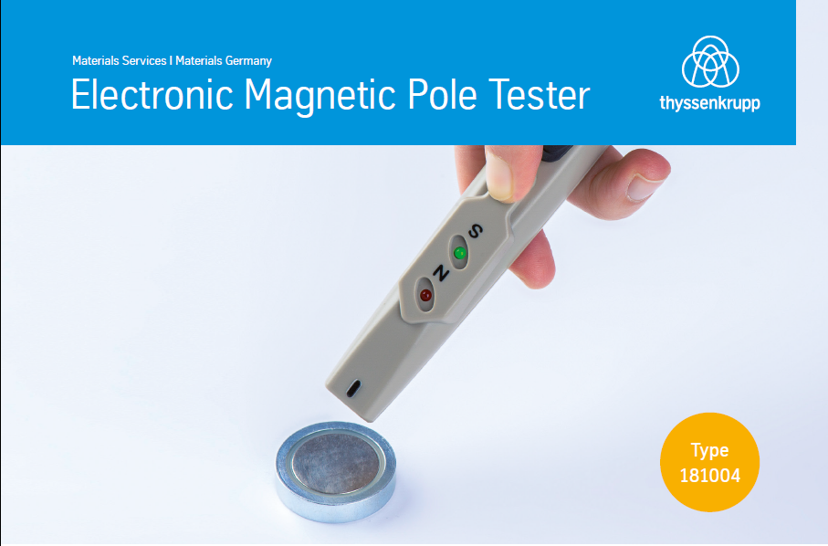 Electronic magnetic pole tester