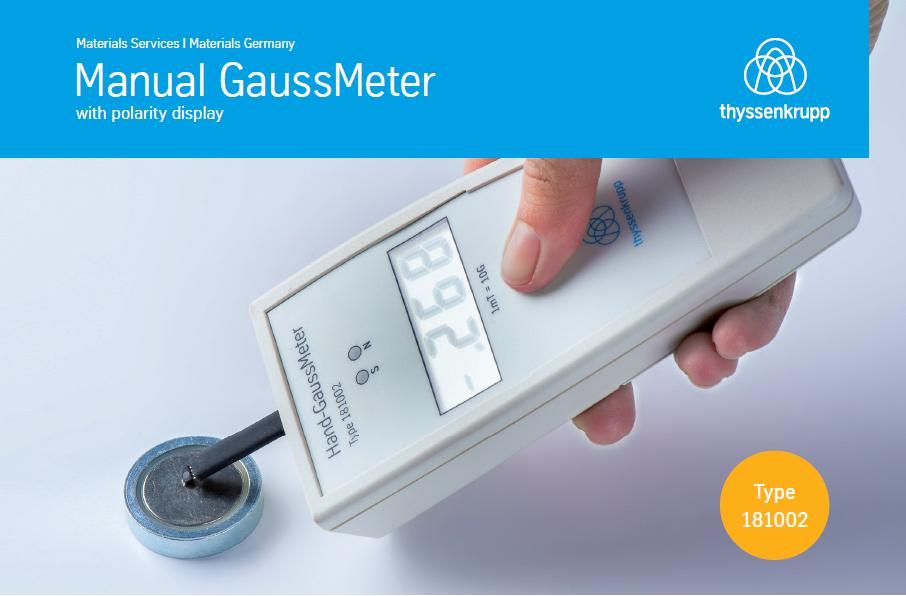 Manual gaussmeter