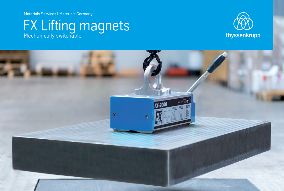 Mechanically switchable lifting magnets