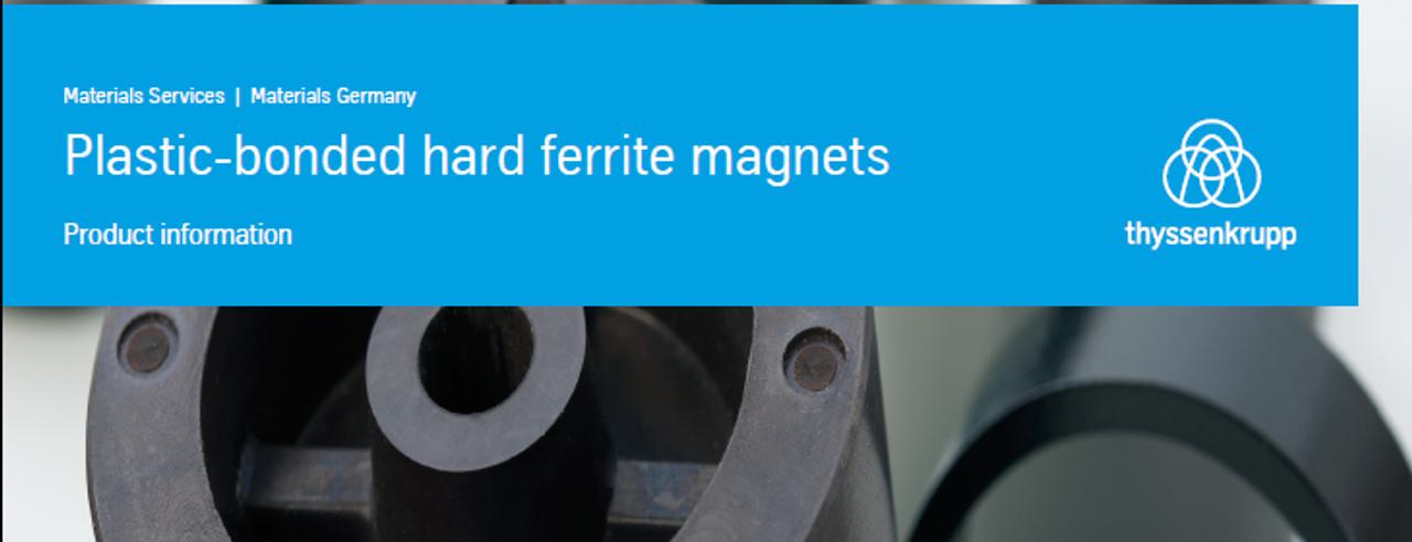 Plastic bonded ferrite magnets