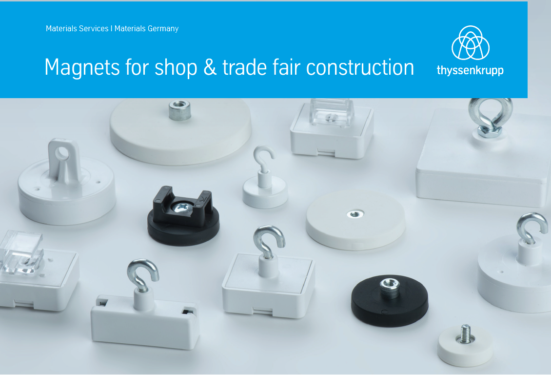 Magnets for shop & trade fair construction