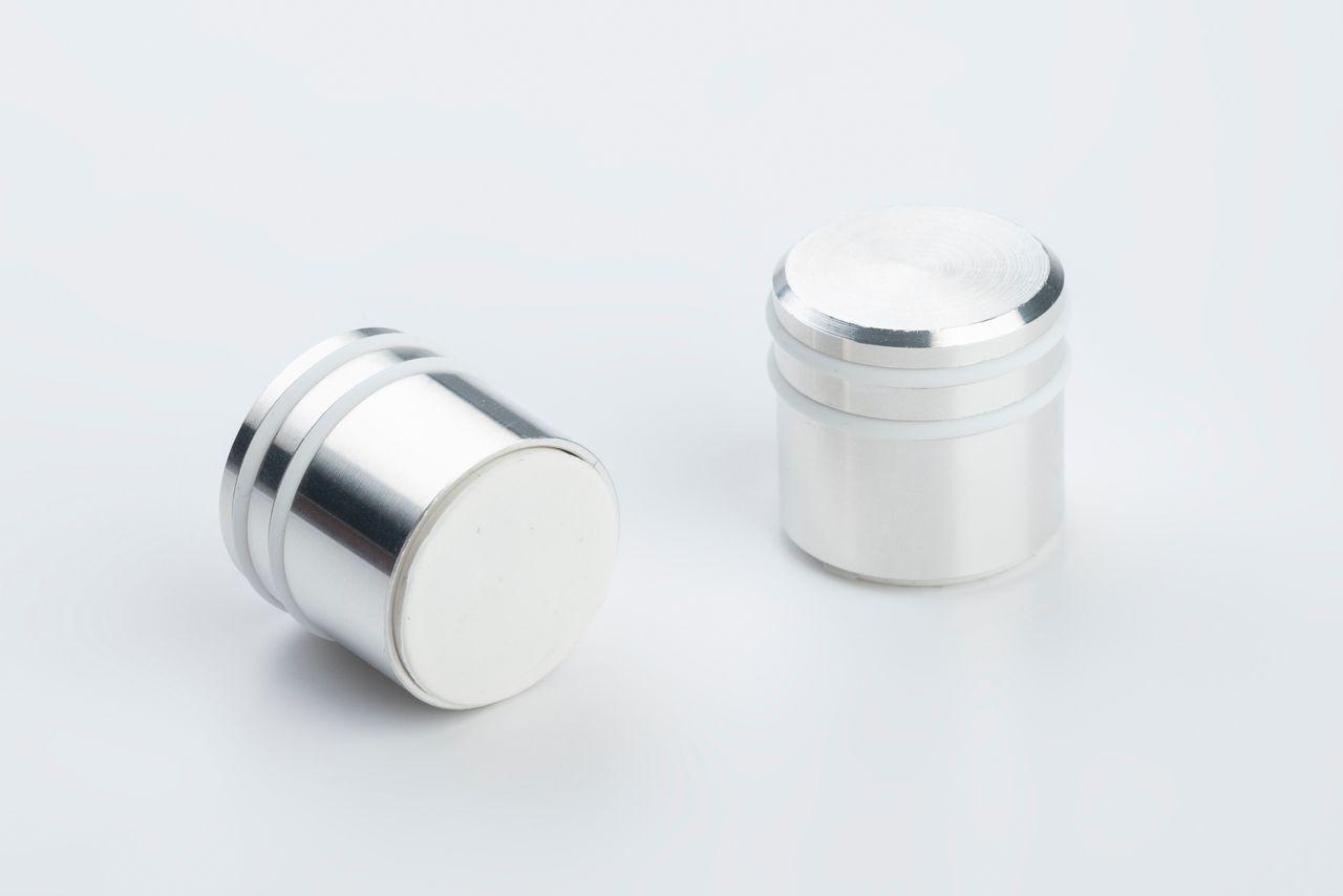 Office magnet made of NdFeB with aluminum housing, rubberized holding surface, thyssenkrupp Magnettechnik