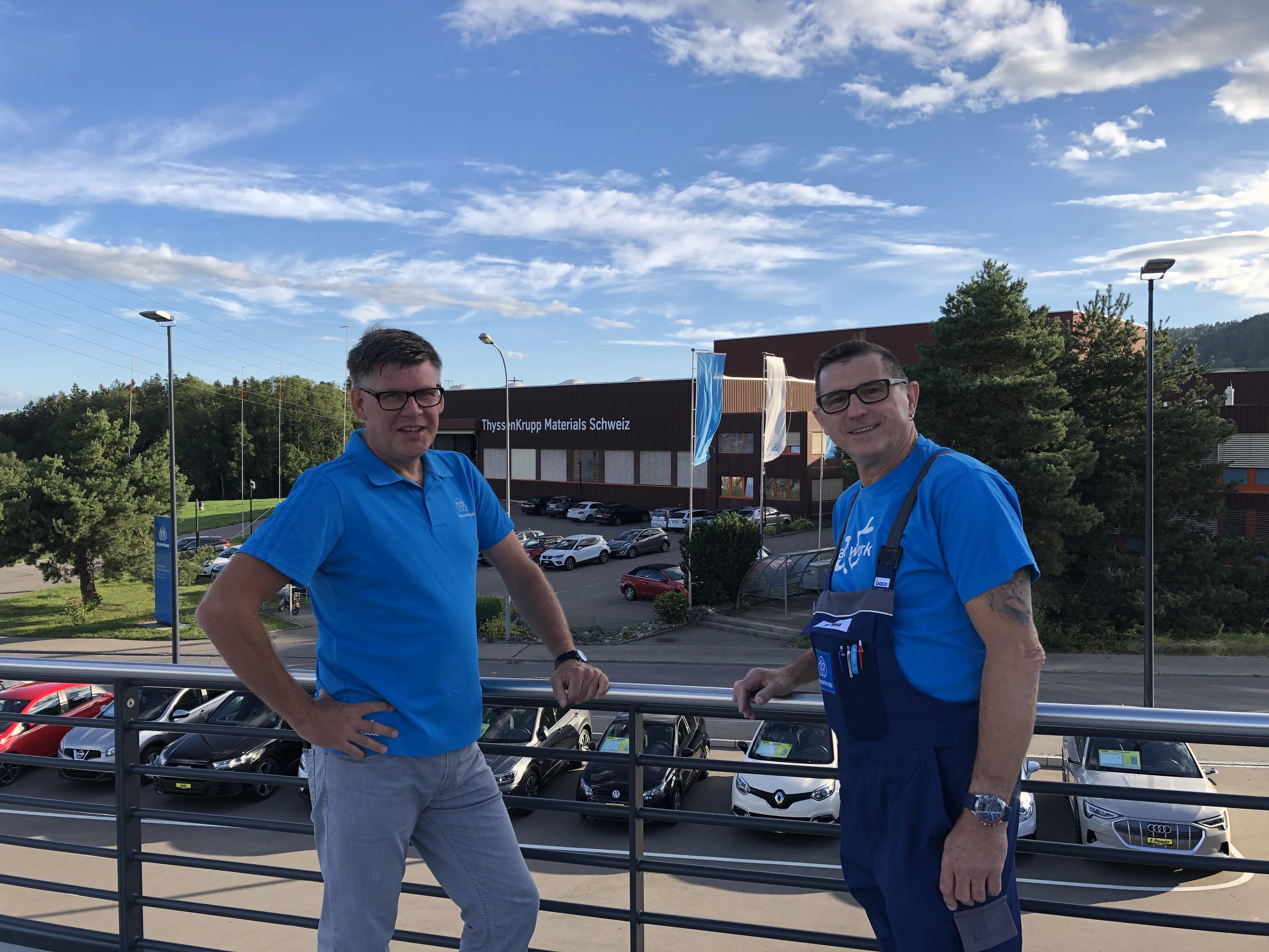 20 Jahre bei thyssenkrupp - Peter Alpert und Walter Thoma