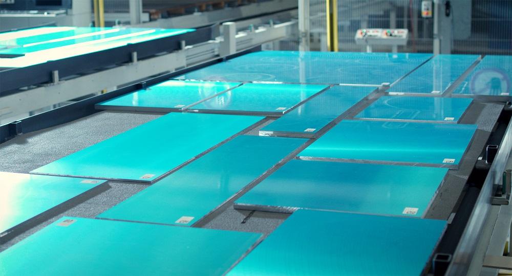 Die Produktion der Aluminium-Gussplatten erfolgt weitgehend automatisiert