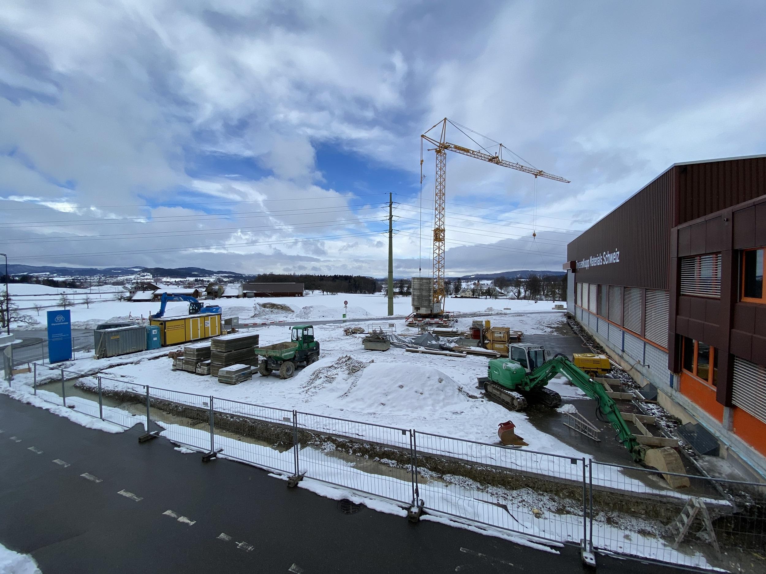 Baubeginn der neuen Produktionshalle prodrill