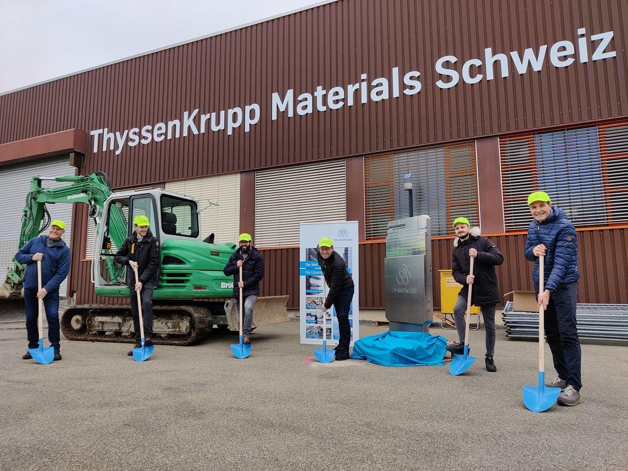 Spatenstich, Produktionshalle prodrill, tieflochbohren, flachschleifen, supply chain services, materials as a service