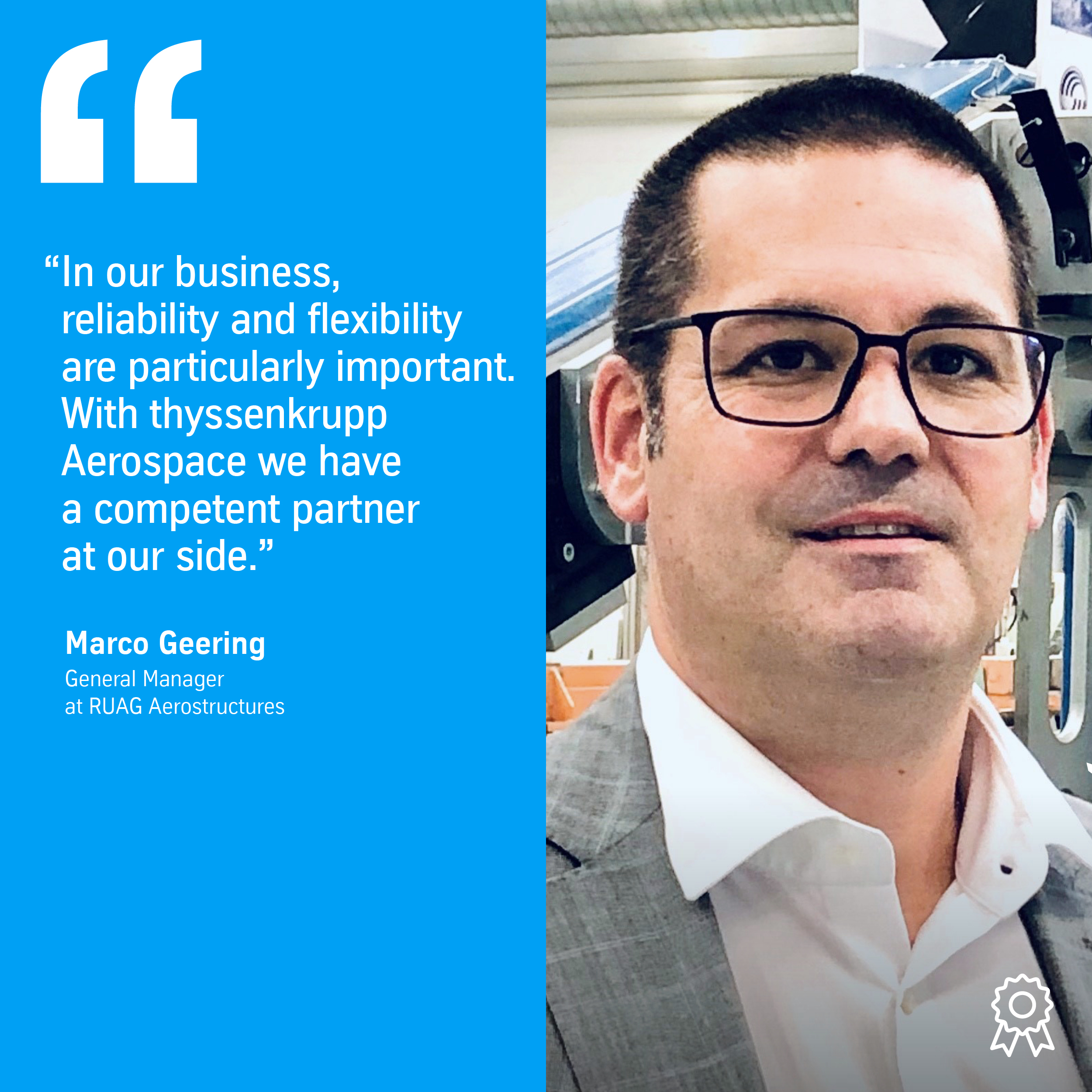 Marco Geering, General Manager at RUAG Aerostructures