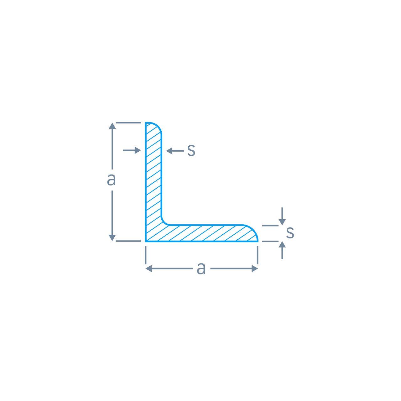 Winkelstahl, gleichschenklig, rundkantig-EN 10056