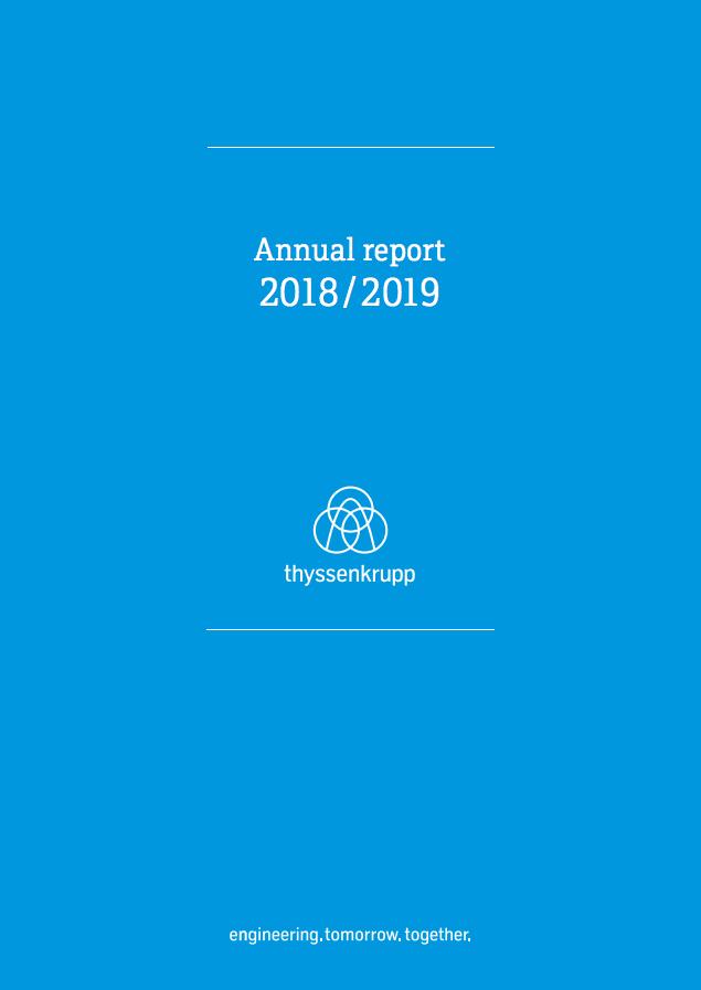 thyssenkrupp Annual Report 2018/2019