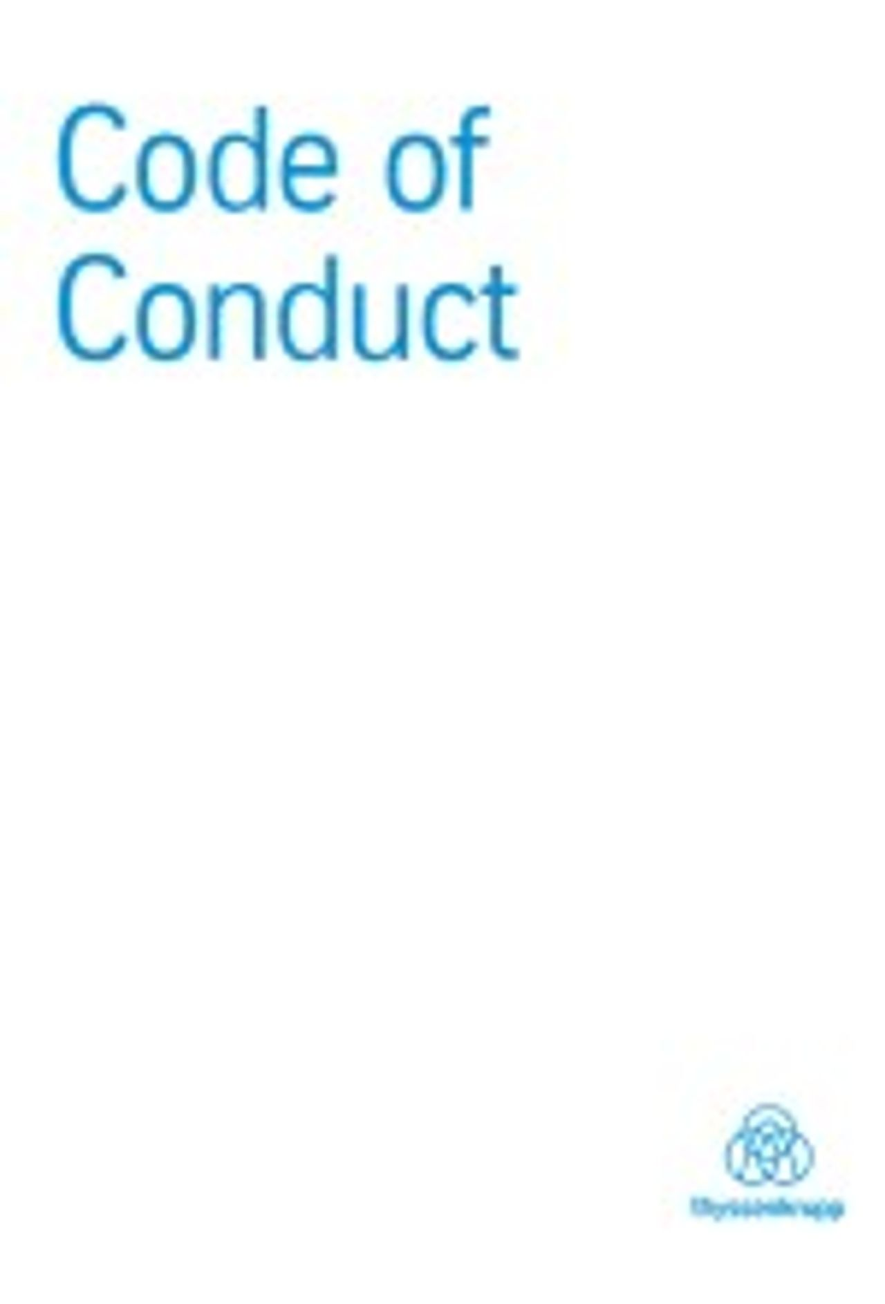 thyssenkrupp sustentabilidade colaboradores empregador responsável código de conduta download pdf