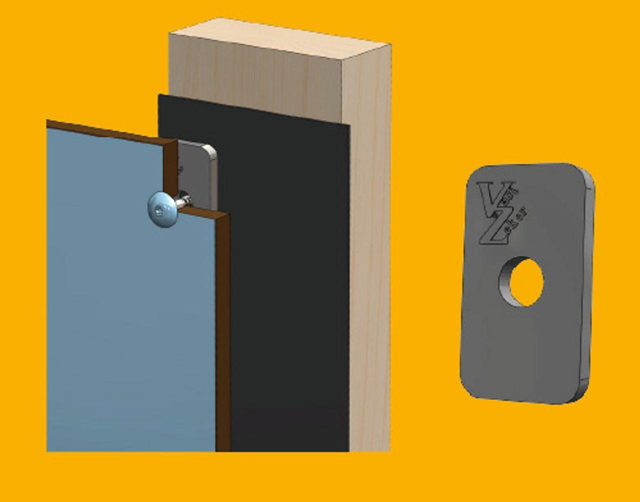 Afbeelding Trespa ventilatie met afstandhouder