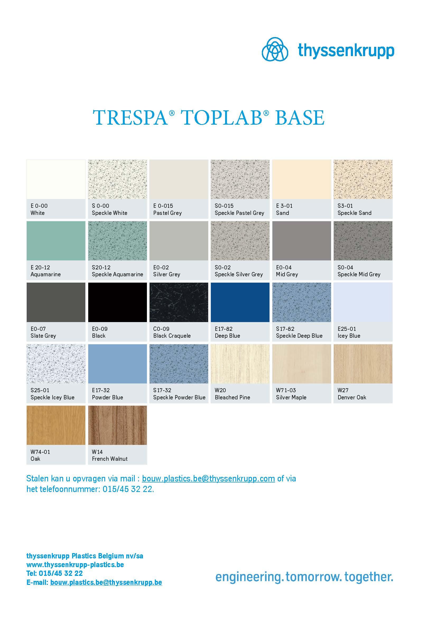 afbeelding TRESPA® Toplab Base kleurenkaart