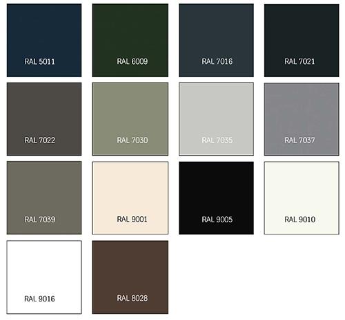 Afbeelding TRESPA® IZEON® RAL-kleuren