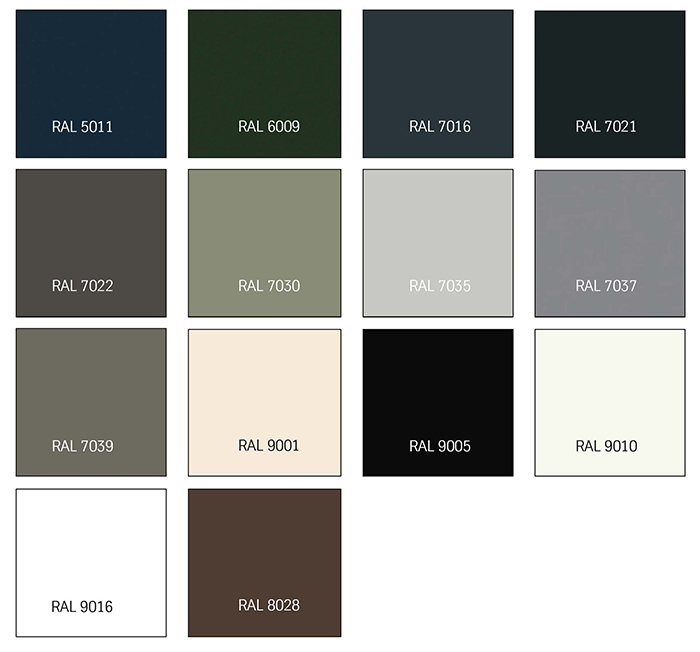 Afbeelding TRESPA® IZEON® kleuren