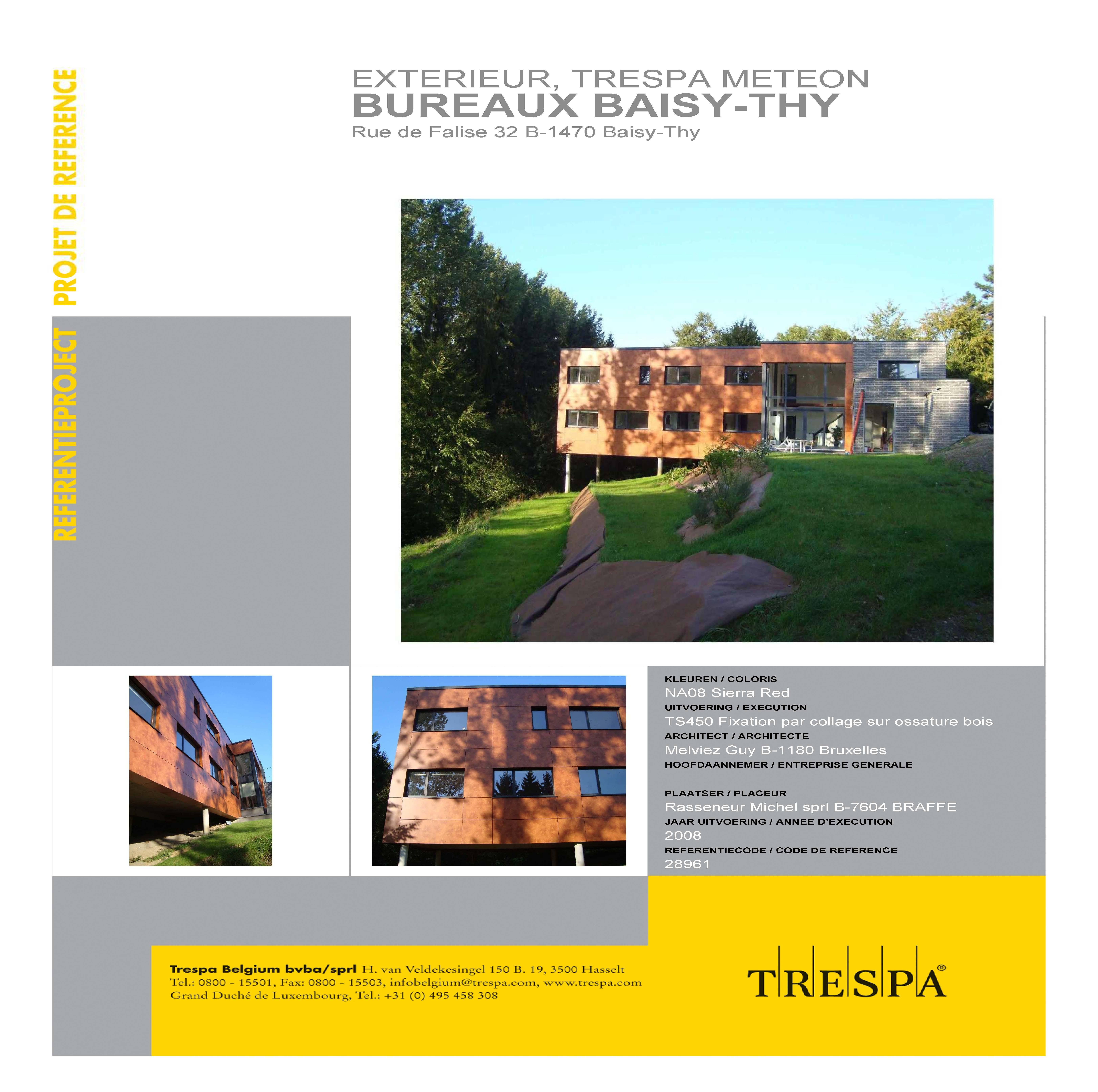 BUREAUX BAISY-THY Rue de Falise 32 B-1470 Baisy-Thy