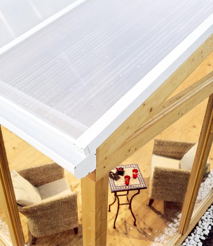 Afbeelding Plexiglas verandaplaten opaal