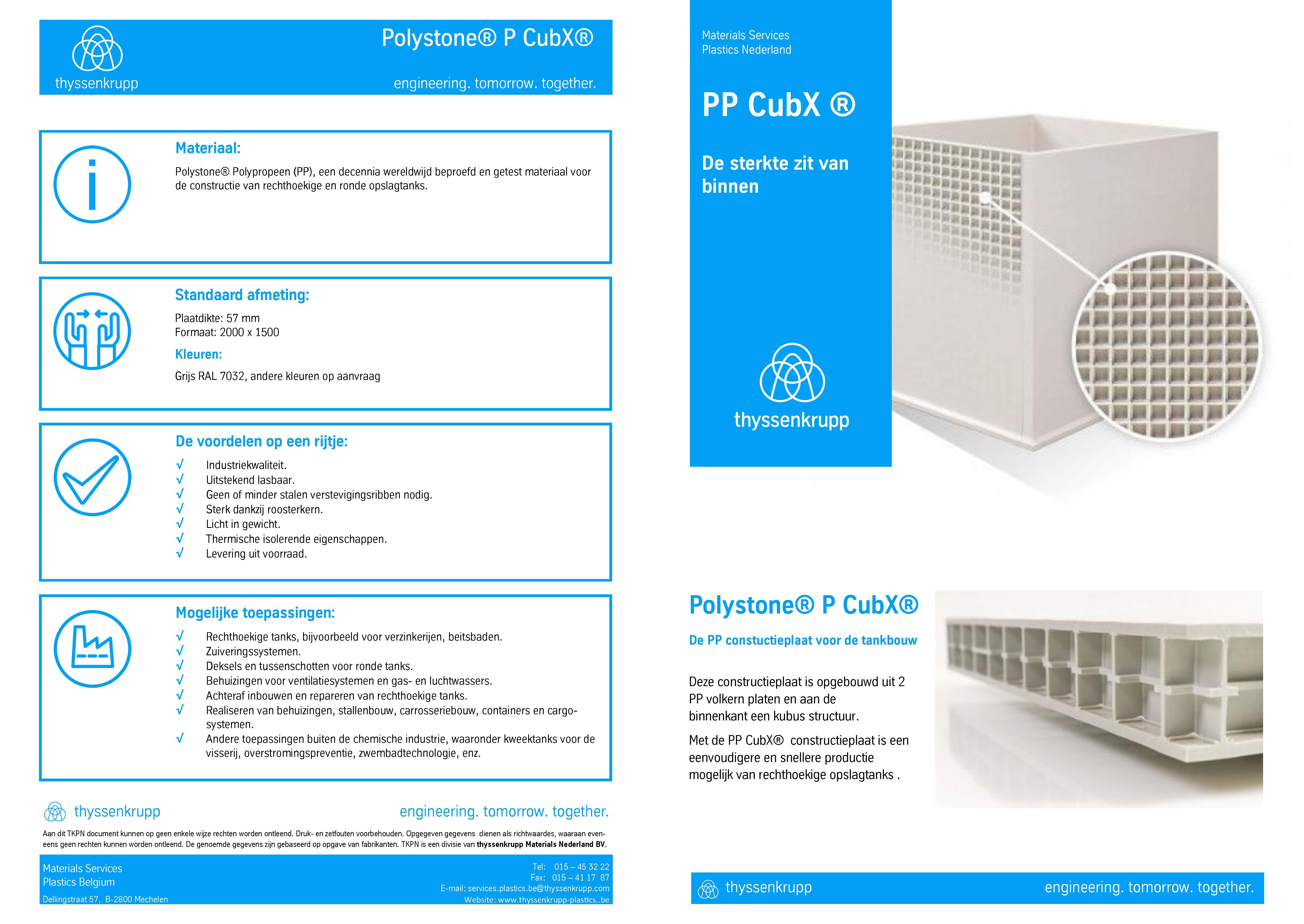 Afbeelding Cover PP CubX technische fiche