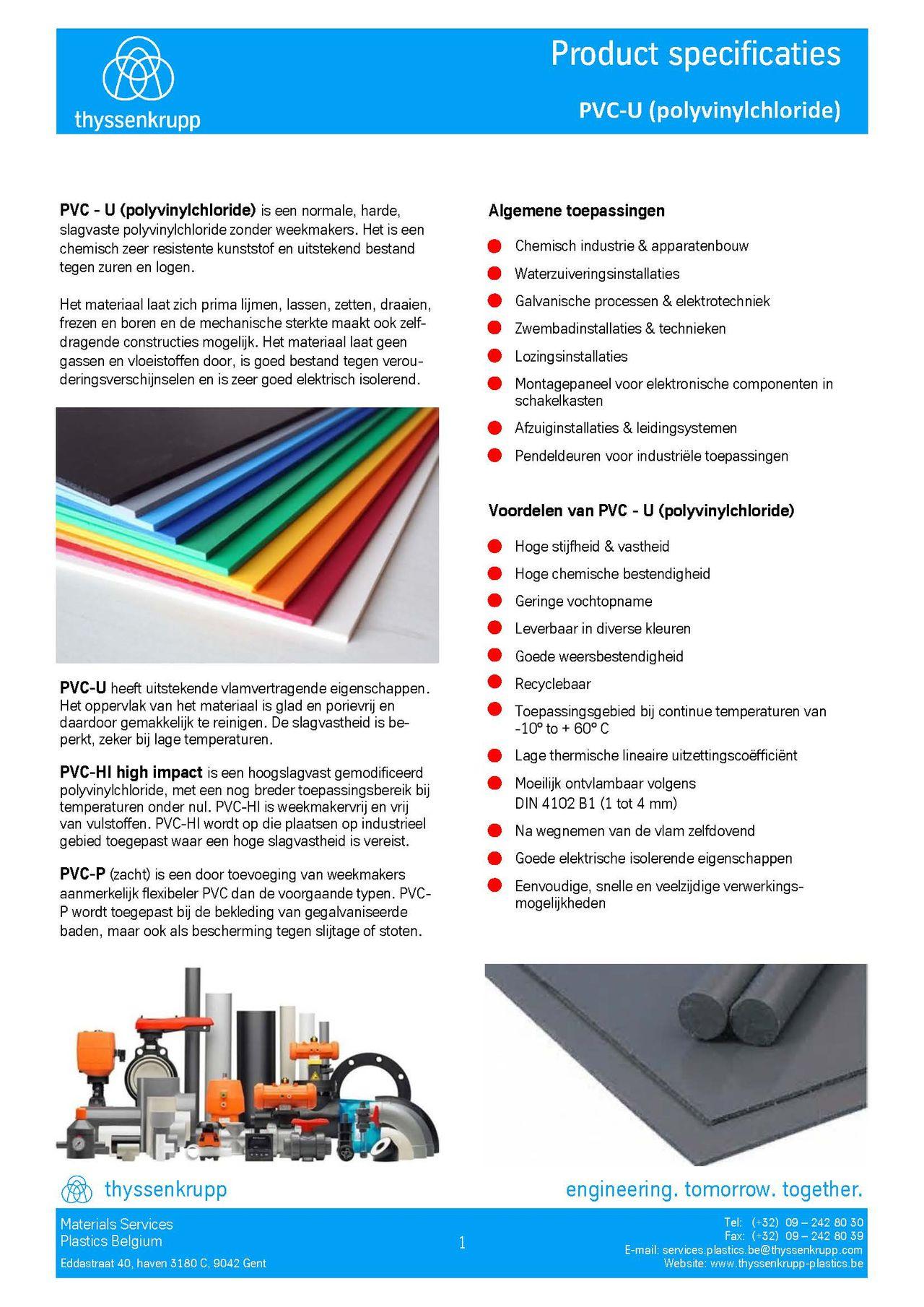 Afbeelding cover PVC-U kunststofprofielen technische fiche