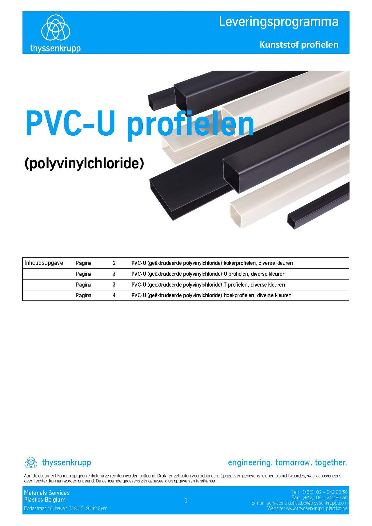 Afbeelding cover PVC-U profielen leveringsprogramma